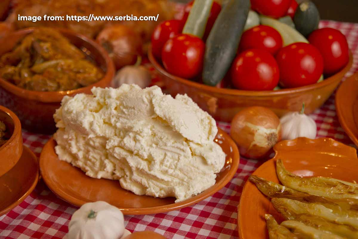 Kajmak, Serbian food