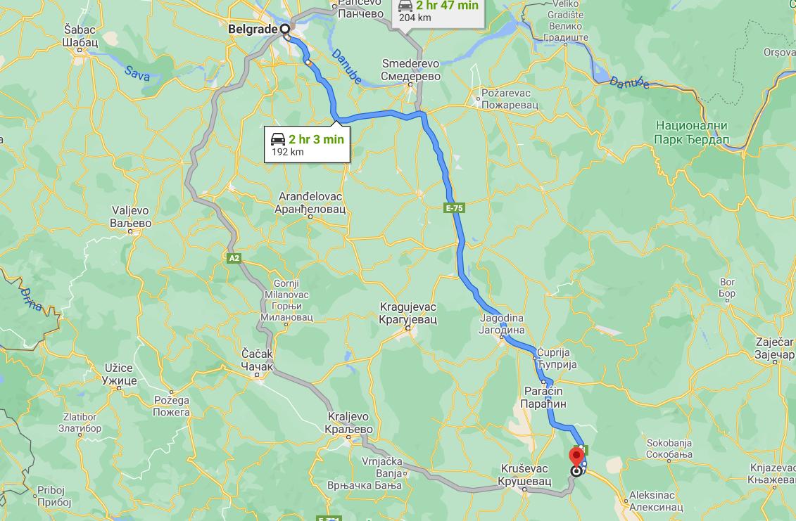 Monastery St Roman on map